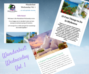 """Wanderlust Wednesday Sign up for Wanderlust Wednesday. Grab your bucket list, dust off your passport and hop onboard this 40-week virtual journey around the world. """"Let's escape for a while and get lost wandering the world together!"""""""